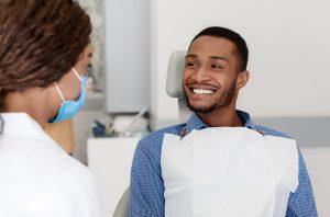 Man visiting Spring Hill dentist for dental checkup